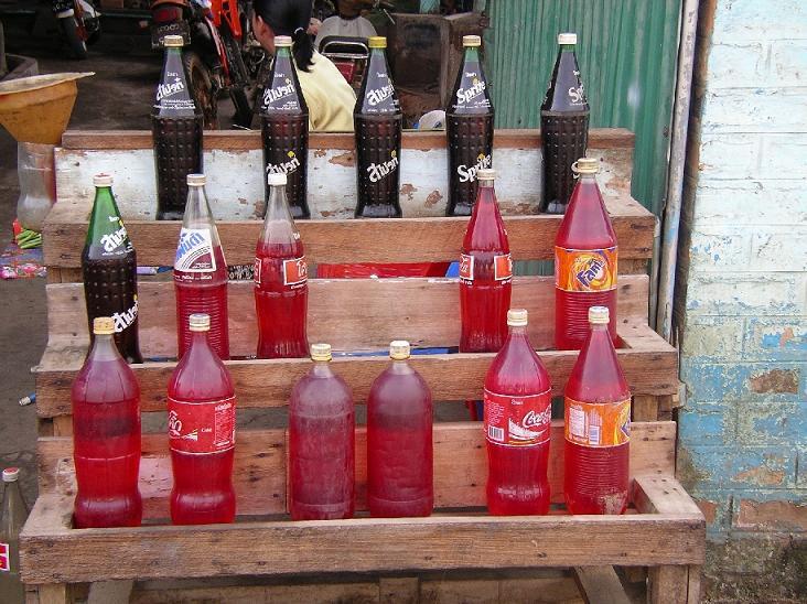 ミャンマーのガソリンスタンド