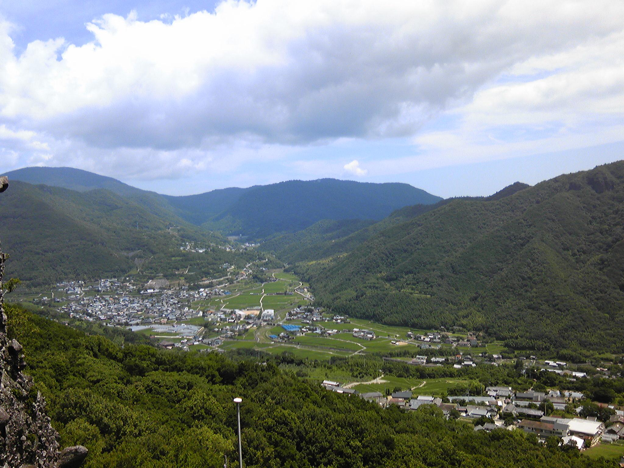 笠ヶ滝からの眺めは絶景です