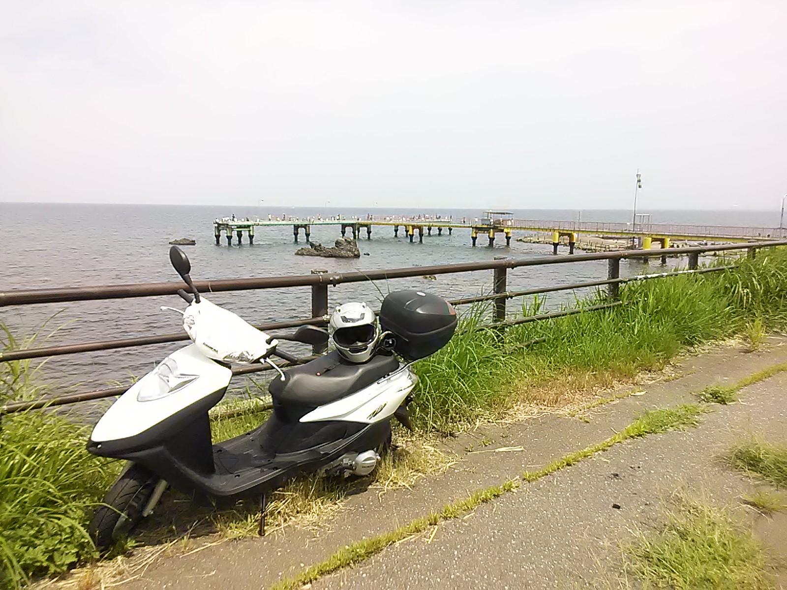 直江津にて日本海を望む