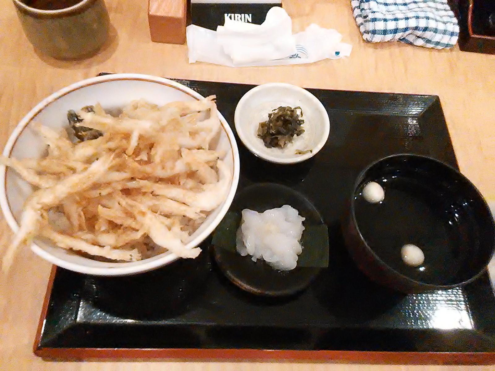 富山駅前にて白エビ丼を食す