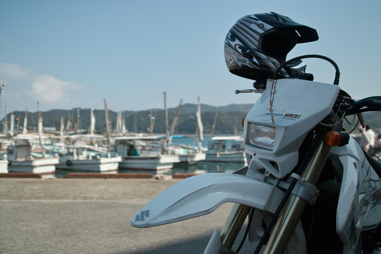 加太漁港で一休み