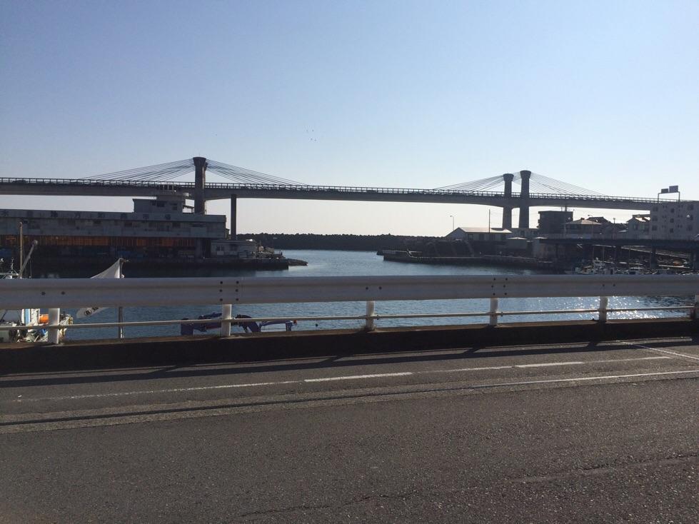 早川港を望む
