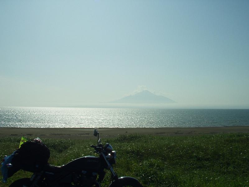 オロロンラインから見た利尻島
