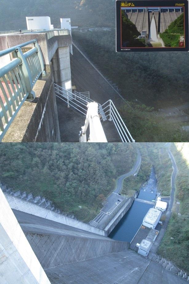 提高国内2番目(156m)の浦山ダム。