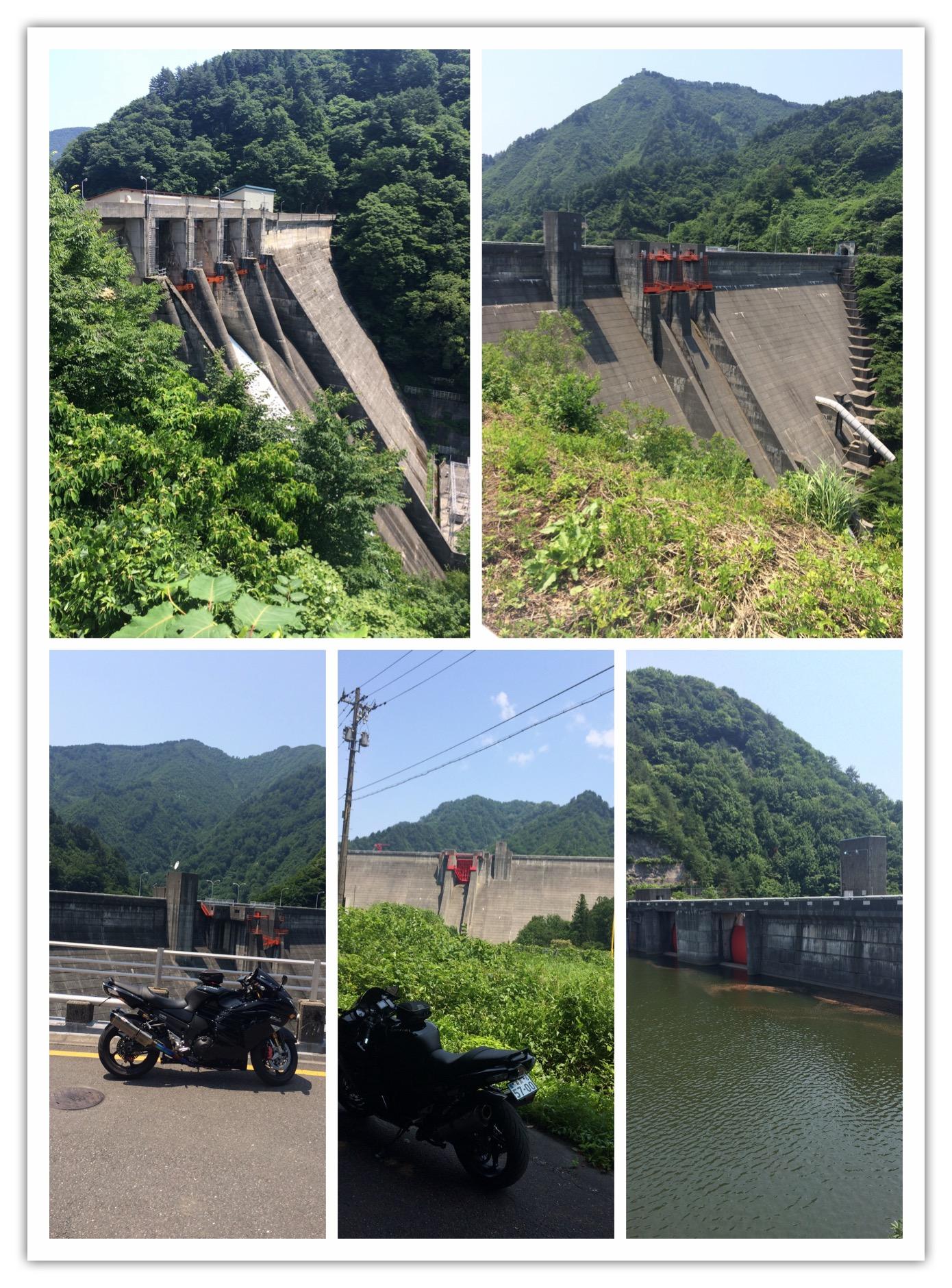 5ヶ所のダム巡り