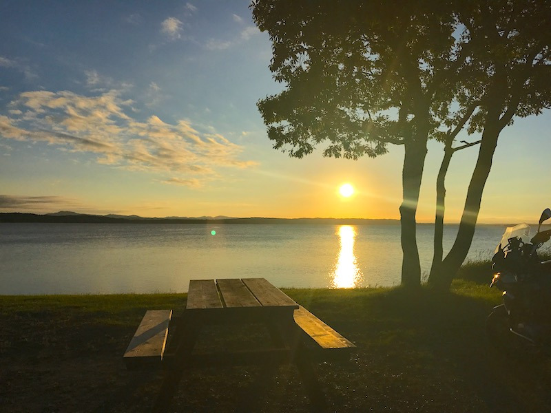 クッチャロ湖の夕日