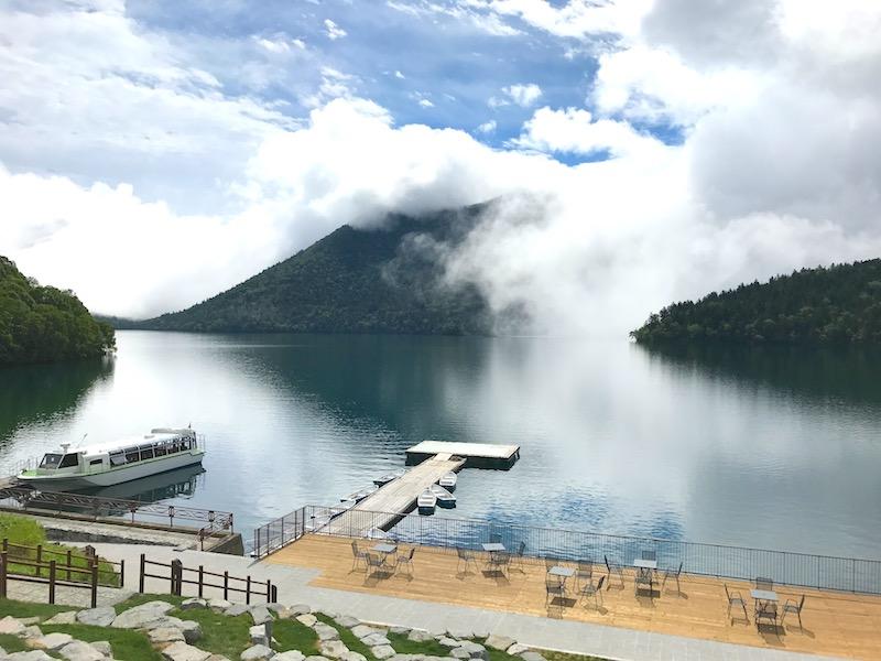 然別湖の幻想的な景色
