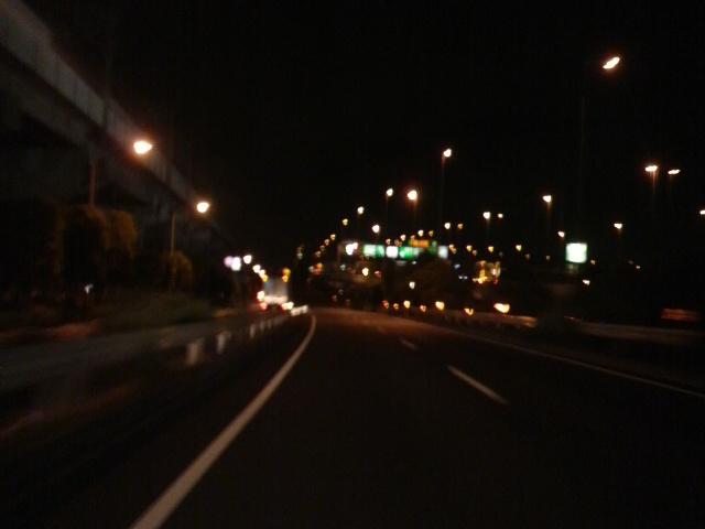 真夜中の東京湾岸道路